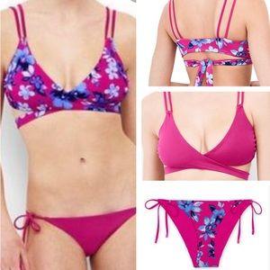 NWT Lands End Reversible Tropical Floral Bikini